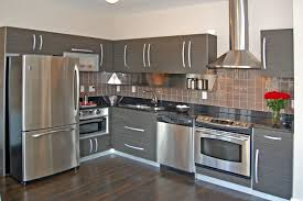 Modern Gray Kitchen Cabinets by Charming Image Of L Shape Kitchen Decoration Using Modern Grey