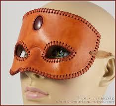 leather mardi gras masks third eye stitched leather mask with carnelian handmade