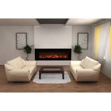 elite flame nile 72 inch log electric wall mounted fireplace