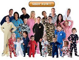 family footed pajamas