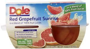dole fruit bowls dole shaw s 0 19 grapefruit fruit cups