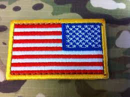 State Flag Velcro Patches Condor American Flag Patch Right Facing Details Last Stand