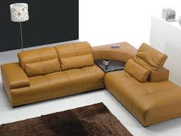 Modern Furniture Depot by Camel Leather Modern Sectional Sofa 697