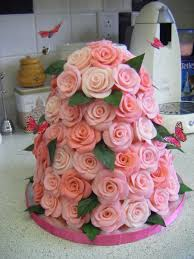 pink rose tower u0026 butterflies birthday cake cakecentral com