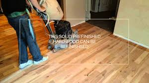 Can Laminate Flooring Be Refinished Prefinished Red Birch Refinished Youtube