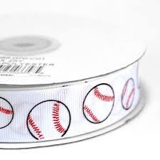 baseball ribbon maple craft baseball print white grosgrain ribbons 7 8 spool