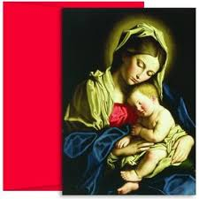 madonna u0026 child at rest religious christmas cards 75000