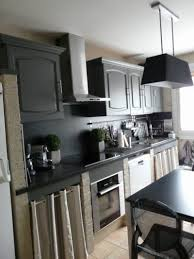 cuisine repeinte en noir 20 best rénovation cuisine avant après images on before