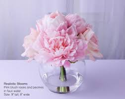 faux peonies pink blush silk peony peonies faux water acrylic