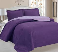 Purple Bed Sets by Amazon Com Home Sweet Home Victoria Design Reversible 3 Pc Quilt