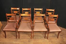 Antique Regency Dining Chairs Antique Walnut Dining Room Chairs Set Eight Walnut Antique