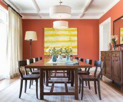 wonderful burnt orange paint color with patterns gallery wall