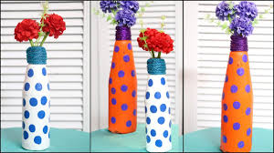 Interior Decoration With Waste Material by Flower Vase From Waste Bottle Recycled Material Craft Little