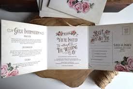 rustic rose wedding invitation sample ivory
