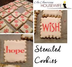 an american housewife stenciled sugar cookies my first year to