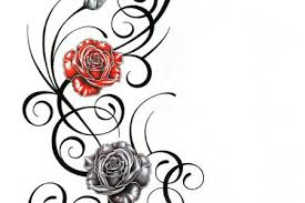 tribal rose tattoo designs