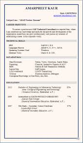 Sap Sd Consultant Resume Sample by Excellent Sap Sd Fresher Resume Format 13 About Remodel Creative