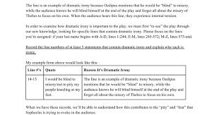dramatic irony worksheet google docs