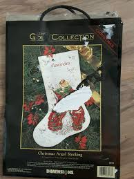 dimensions gold collection christmas angel stocking cross stitch