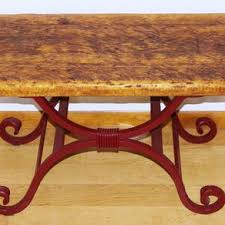 Wrought Iron Accent Table Reclaimed Wood Entry Tables Hall Tables And Accent Tables