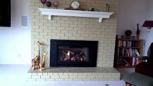 gas fireplace insert youtube