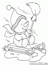 sledding coloring pages coloring page snowmen