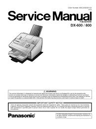 panasonic panafax dx600 800 service manual fax image scanner