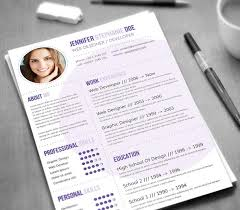 Cute Resume Templates 21 Stunning Creative Resume Templates