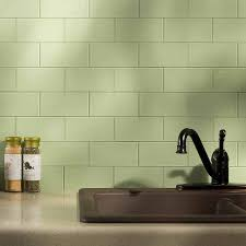 fancy blue green glass tile kitchen backsplash design