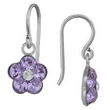 dangle earring sterling silver dangle earring violet target