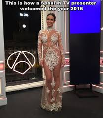 hot new years dresses new years television in spain hot tv announcer