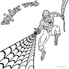 Printable Spider Web Coloring Pages For Kids Cool2bkids Clip Spider Web Coloring Page