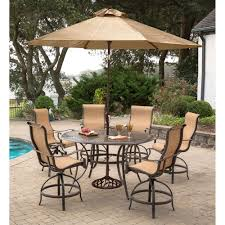 Patio High Dining Set Aspen Creek Outdoor Pit Dining Patio Set With Swivel