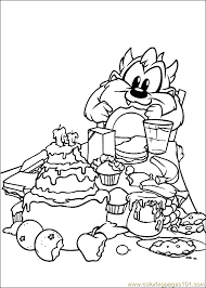 baby looney tunes coloring 02 coloring free baby