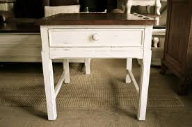 round distressed end table rustic white coffee table large distressed off and end tables sale