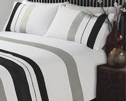 grey and white striped duvet cover king sweetgalas
