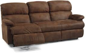 Flexsteel Reclining Leather Sofa Holmwoods Furniture And Decorating Center Reclining Leather