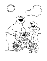 cookie monster put on blanket coloring pages coloring sky