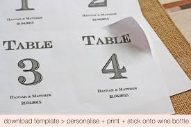 wedding table number fonts free download printable wedding table numbers stickers for wine bottles