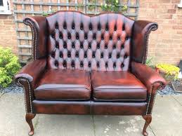 Leather Queen Anne Chair Beautiful Ox Blood Leather Chesterfield Queen Anne 2 Seater Sofa