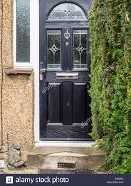 glass panel front door house entrance black front door with decorative glass panel and