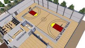 all star basketball court from next generation living homes youtube