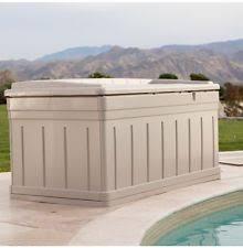 outdoor storage bench ebay