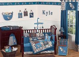 surf blue and brown crib bedding set by sweet jojo designs 9