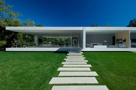modern glass houses modern beautiful garden in front of home design of your house