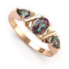 gold topaz rings images Anzor jewelry 14k rose gold mystic green topaz ring jpg