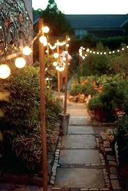 Backyard String Lighting Ideas How To Hang Backyard String Lights Pole For Outdoor String Lights