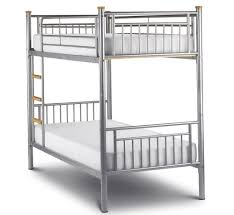 metal bunk bed with mattresses furniture design center beds