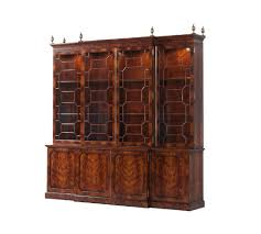 Bookcase Cupboard Theodore Alexander Cabinetry Tall Bookcases U0026 Cabinets 6305 107