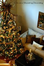 Christmas Tree Decorating Ideas Pictures 2011 Chic On A Shoestring Decorating Christmas Home Tour 2011 Part 1